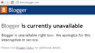 blogger is currently unavailable