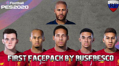 PES 2020 Facepack Liverpool + Neymar by RusFRESCO