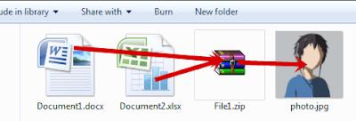 Cara Menyembunyikan File dalam Gambar