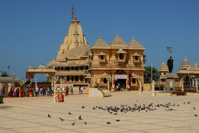 Somnath temple gujrat.Famous 8 temple in Gujarat