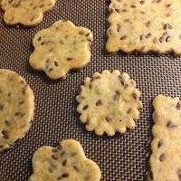 Biscuits salés avant cuisson à la farine de maïs et aux graines de lin