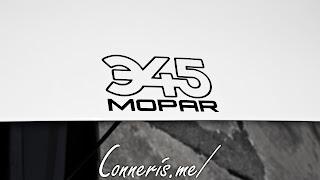 345 Mopar Sticker
