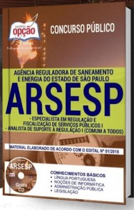 Apostila concurso ARSESP Analista de Suporte à Regulação