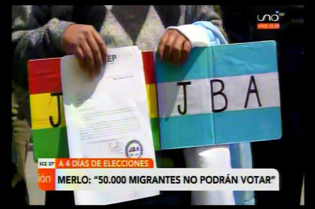 Lamentan que más de 50 mil bolivianos en el exterior no podrán votar porque fueron depurados