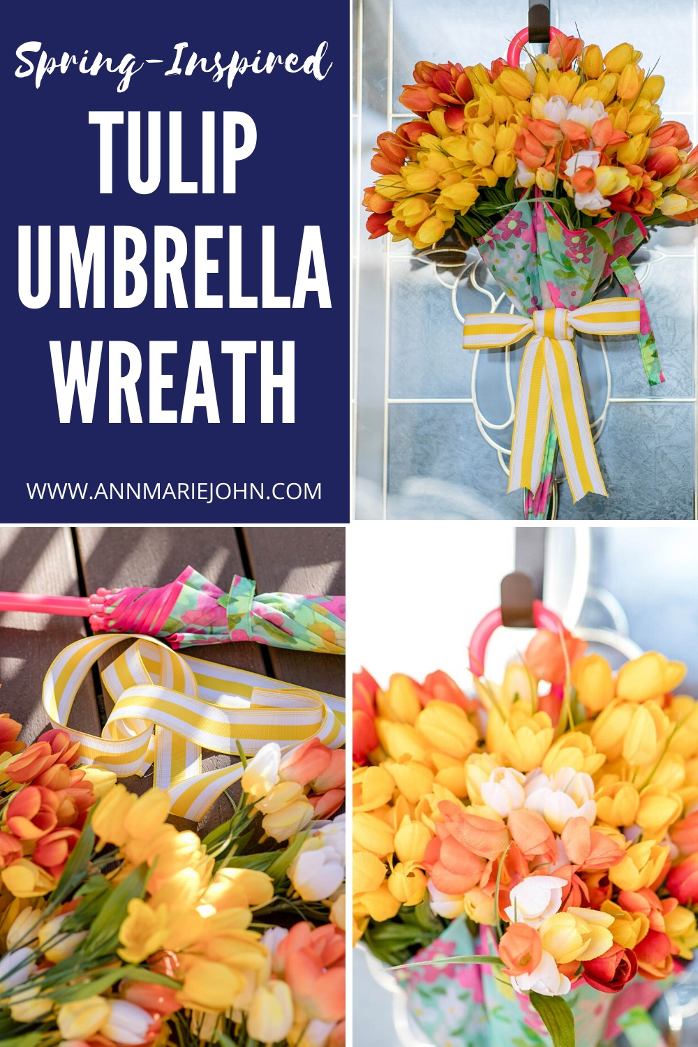 Tulip Umbrella Wreath Pinterest Image