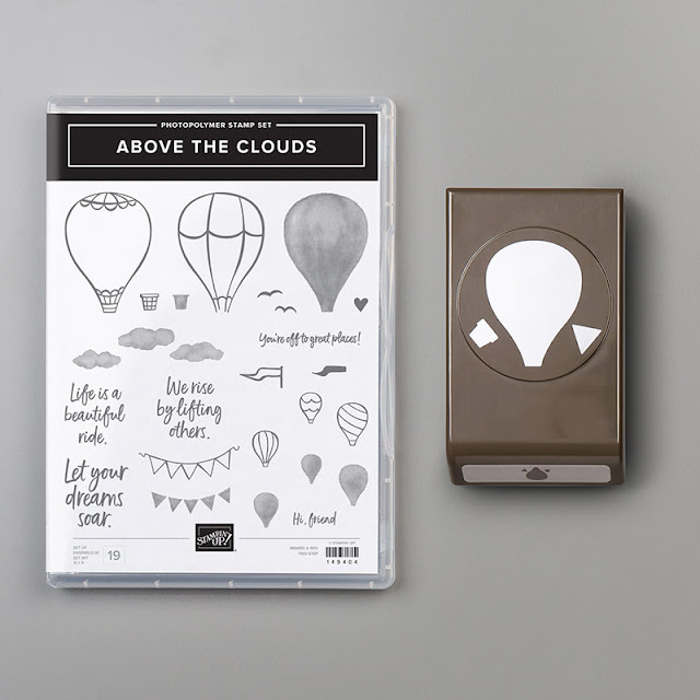 Above the Clouds Hot Air Balloon Stampin Up