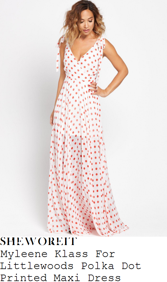 myleene-klass-myleene-klass-white-and-red-polka-dot-print-sleeveless-plunge-wrap-front-tie-detail-maxi-dress