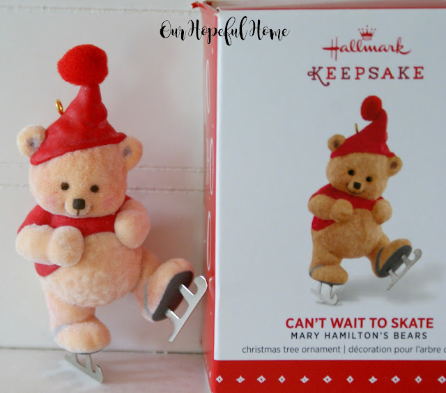 2015 Can't Wait to Skate Mary Hamilton's Bears Christmas Ornaments vintage Christmas