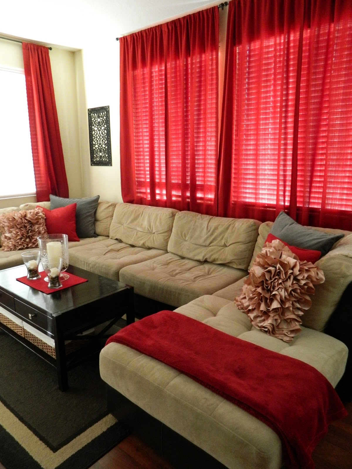 tan and red living room ideas my nest my living space 25307
