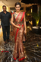 Tapsee Pannu Latest Stills in Red Silk Saree at Anando hma Pre Release Event .COM 0026.JPG