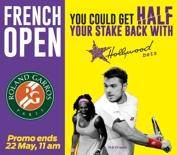 Hollywoodbets French Open Losing Finalist Promotion - Tennis - Promo ends 22 May, 11am - Roland Garros