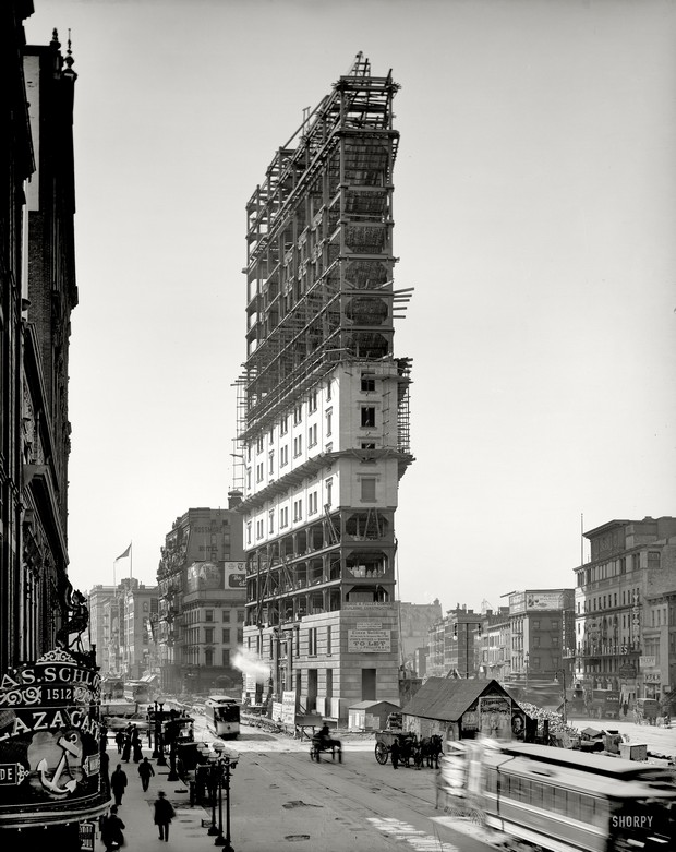 New York Times Building Under Construction (1903)