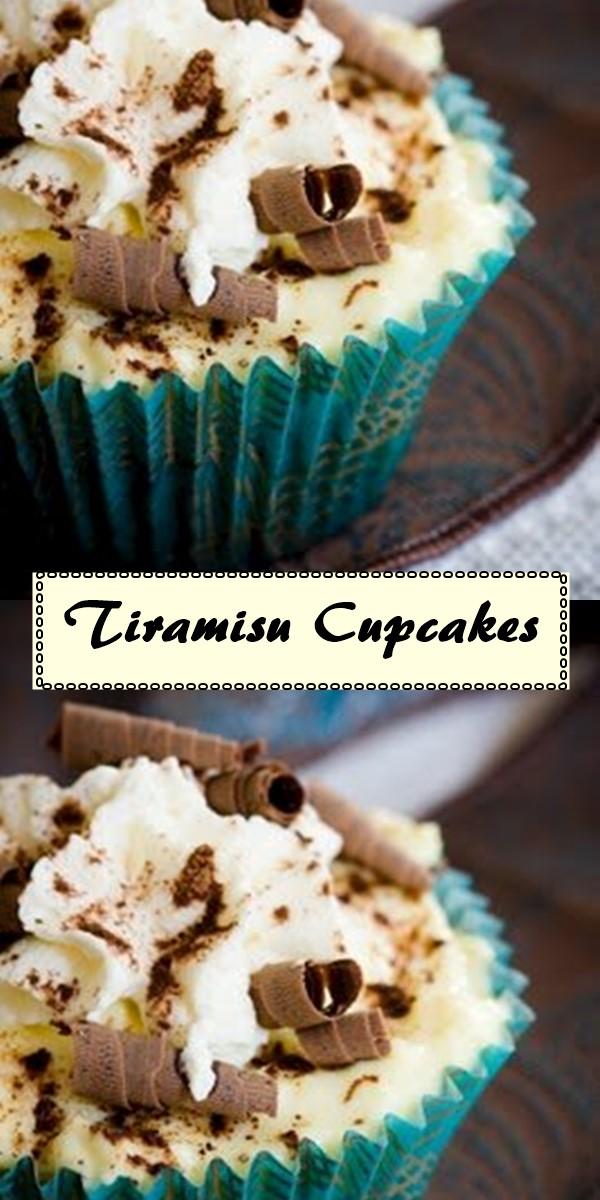 Tiramisu Cupcakes #cupcakerecipes
