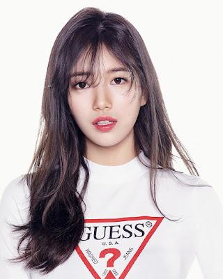 Bae Suzy artis cantik dan manis imut bibir merah tipis