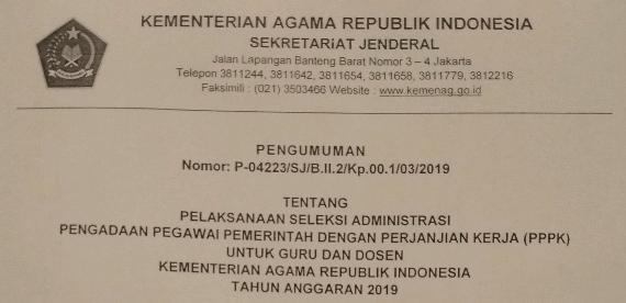 Jadwal dan Syarat Seleksi Administrasi PPPK untuk Guru dan Dosen 2019