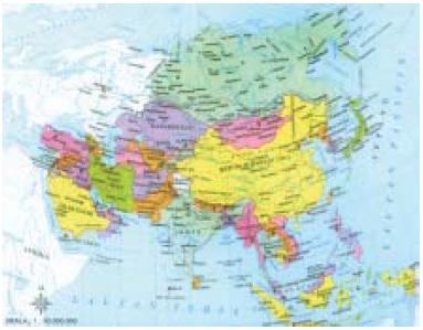 Bentang Alam Batas Nama Negara Gambar Peta Wilayah Perwilayahan Benua