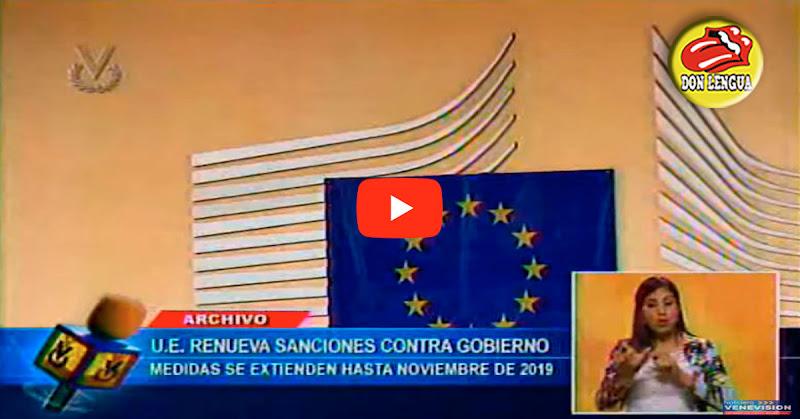 Unión Europea extendió hasta noviembre el 2019 las sanciones contra Venezuela