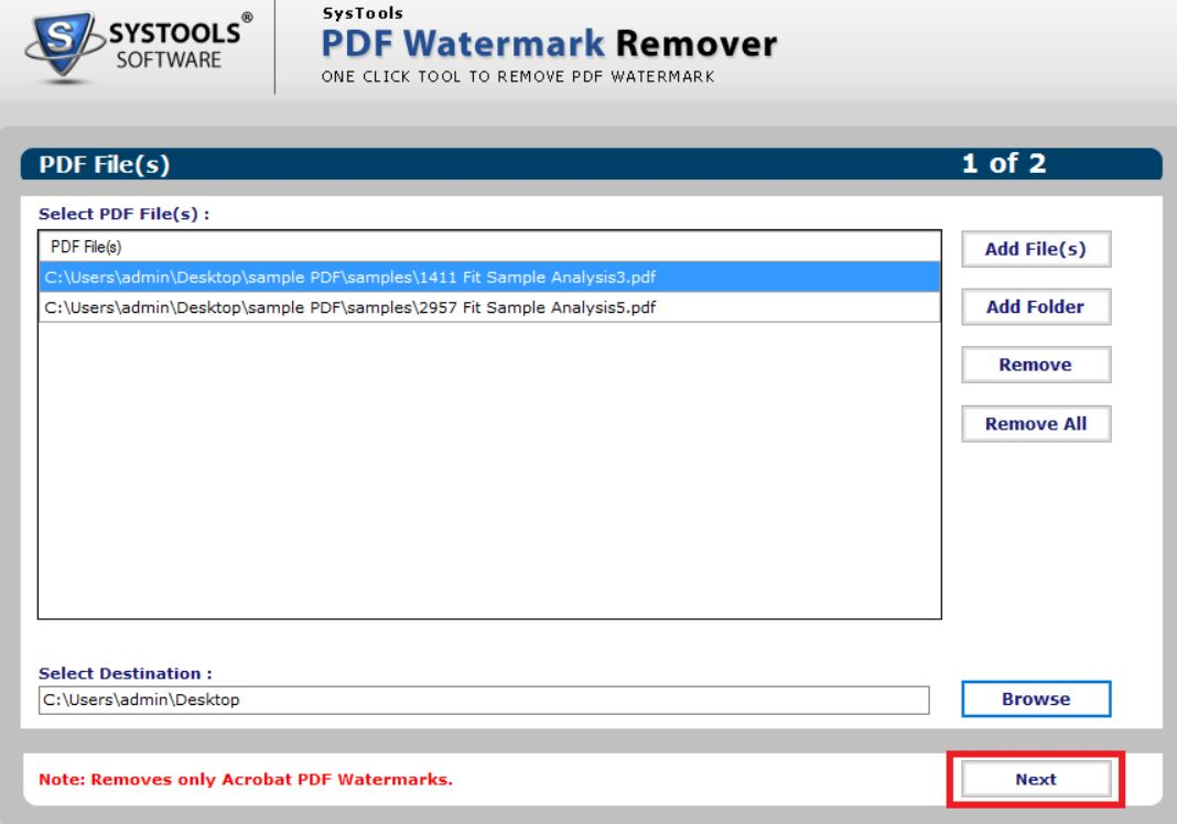 SysTools-PDF-Watermark-Remover