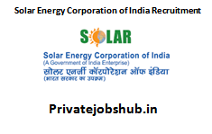 Solar Energy Corporation of India Recruitment