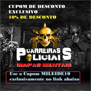 CUPOM DE DESCONTO - MAPAS MENTAIS (concursos públicos) CARREIRAS  POLICIAIS (Tá Tudo Mapeado) - Concursos Policiais - PRF - PM - PF- DEPEM - Polícia Civil