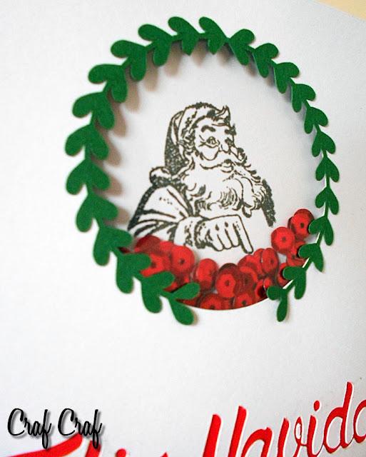 Felicitación navideña hecha a mano
