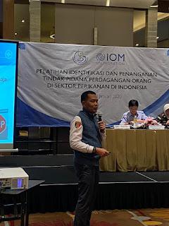 Dirreskrimum Polda Kepri Menjadi Narasumber Pada Pelatihan Identifikasi Dan Penanganan TPPO.