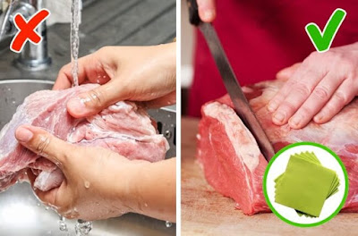 5 Foods You Should Never Wash Before Cooking, Fresh meat