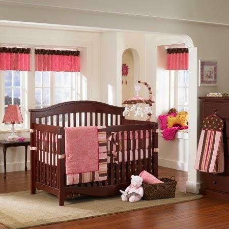 Cuarto de beb en marr n y rosa colores en casa for Decoracion de cuartos para ninas recien nacidas