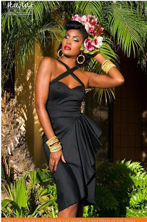 Pinup Girl Clothing Voodoo Vixen Dress in Black