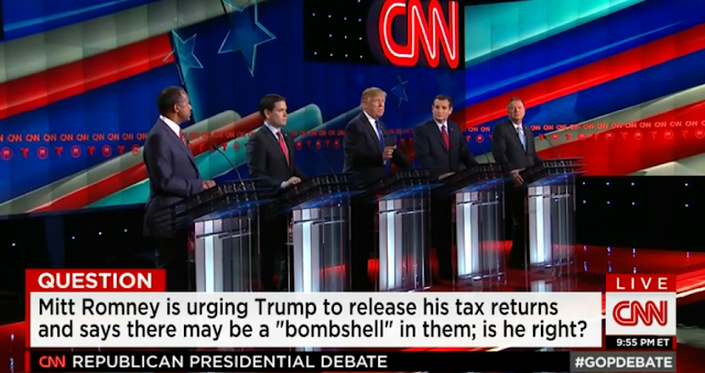 Mitt Romney Donald Trump tax returns bombshell CNN debate