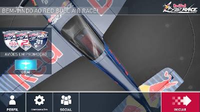 Air Race menu inicial