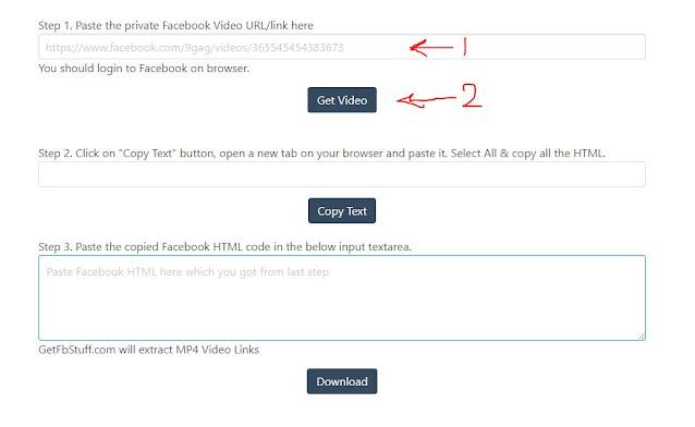 تحميل فيديو من جروبات الفيس بوك المغلقة
