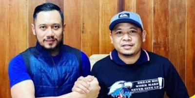 Ketua umum partai Demokrat AHY bersama Wakil Sekretaris DPD I NTB Andi Mardan