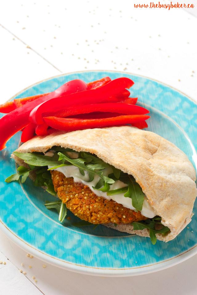 Greek-Style Quinoa Burgers (makes 6-8 burgers)