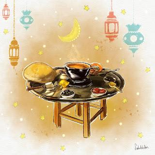 iftar sofrası çizimi