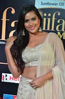 Prajna Actress in backless Cream Choli and transparent saree at IIFA Utsavam Awards 2017 0002.JPG