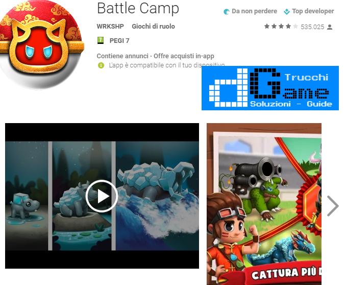 Trucchi  Battle Camp Mod Apk Android v3.9.0