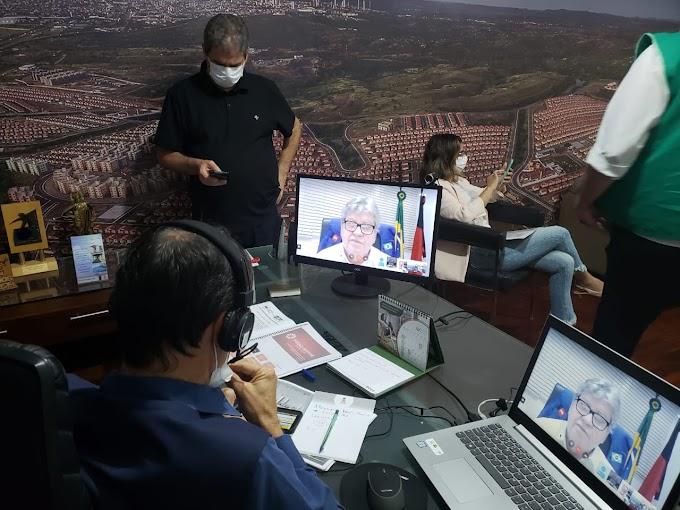 Romero participa de vídeoconferência com João Azevedo e Luciano Cartaxo e tem propostas bem recebidas para inclusão em novo decreto estadual