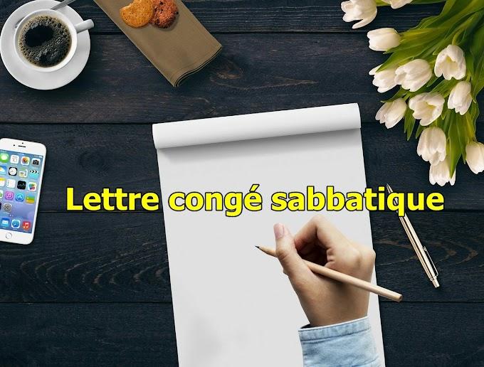 lettre congé sabbatique