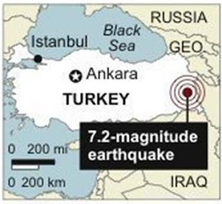 Turkey hit by 7.2 magnitude earthquake