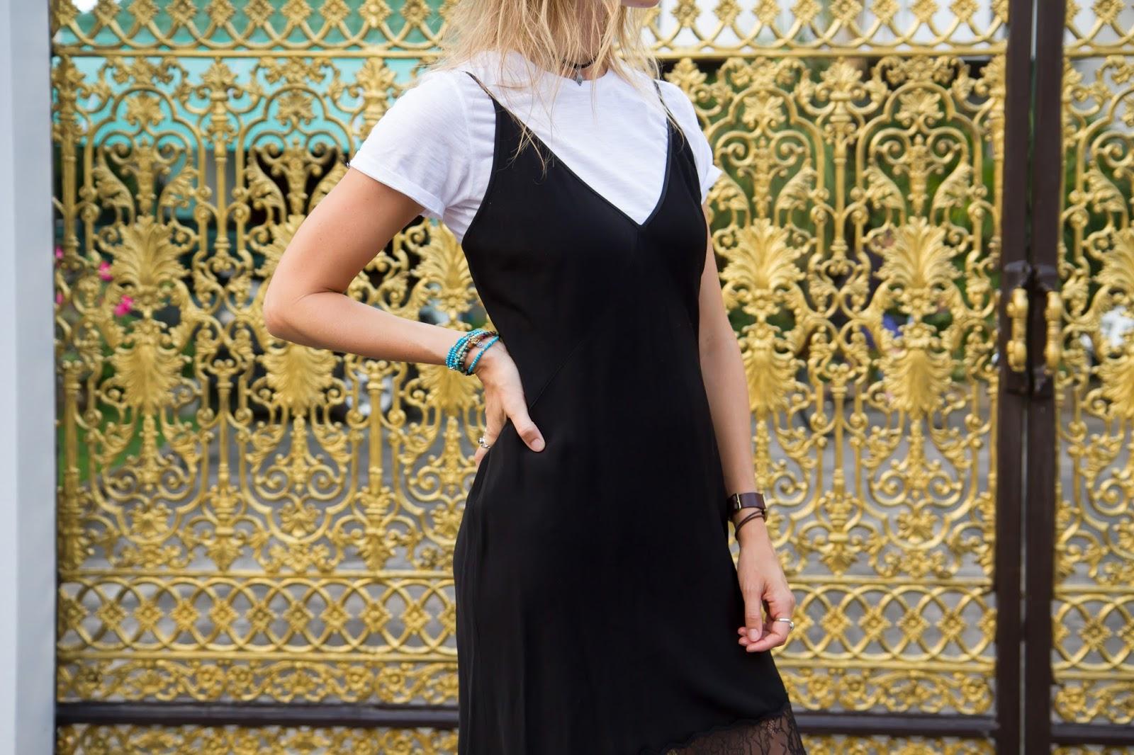 T shirt under dress - How To Wear A T Shirt Under A Slip Dress