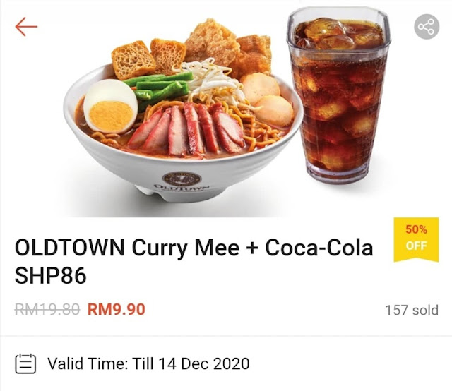 OLDTOWN Curry Mee + Coca-Cola