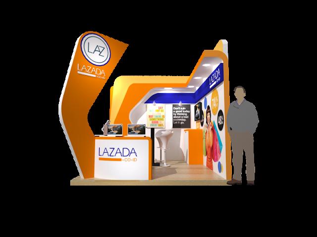 Booth LAZADA kontraktor pameran inexpo desain