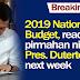 2019 National Budget, for Signature na ni Duterte