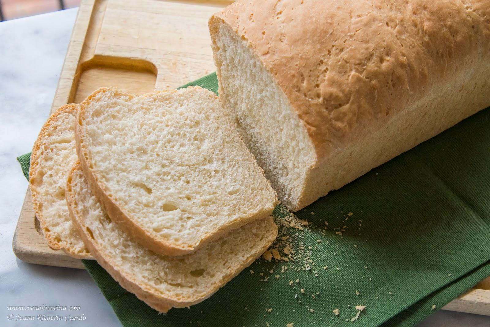 pan de molde con levadura seca