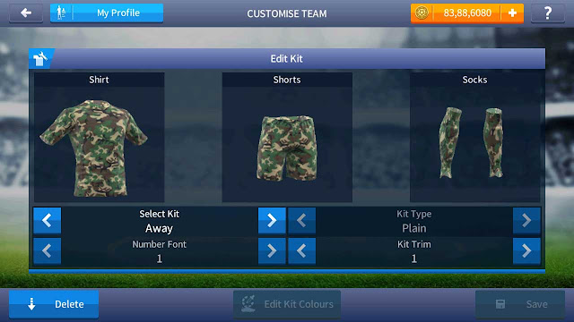 baju tentara tni dream league soccer