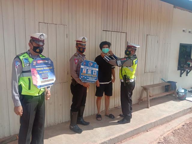 Satlantas Polres Kembali Lakukan Patroli Sambang Wilayah Desa