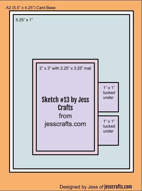 Card Sketch #13 by Jess Crafts