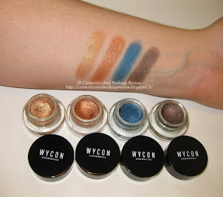 Metal Boom n.03 Bronzo, 05 Rame, 08 Blu, 09 Marrone - swatches