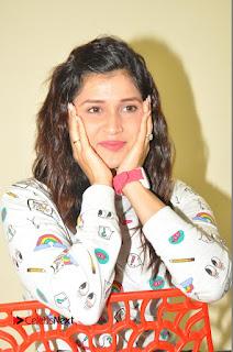 Actress Mannara Chopra Pictures in Denim Jeams at Thikka Movie Interview  0189.JPG